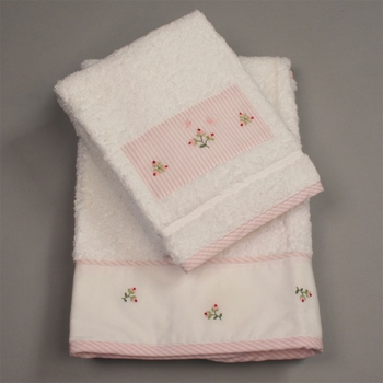gordonsbury rosebuds facecloth set