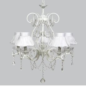 grace chandelier - white sheer shades