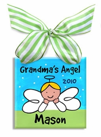 grandma's angel christmas ornament (boy)