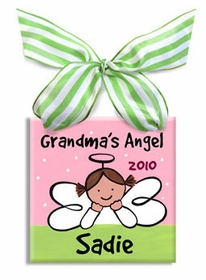 grandma's angel christmas ornament ornament (girl)