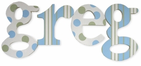 """greg's dots and stripes nantucket 8"""" wooden hanging letters"""