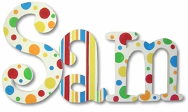 """gumballs and licorice 8""""wooden hanging letters"""