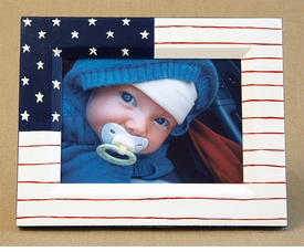 hand painted frame - american flag