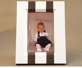 hand painted frame - two stripes (vertical)