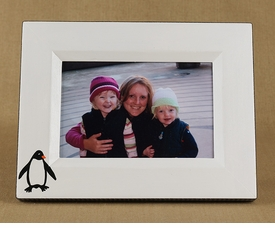 hand painted penguin frame