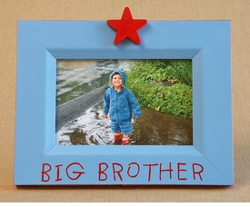 hand painted picture frame - big brother star