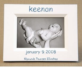 hand painted picture frame birthdate