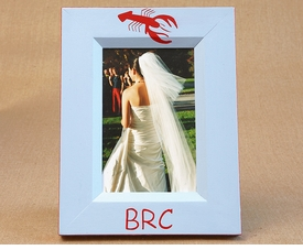hand painted picture frame - lobster