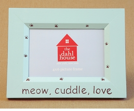 hand painted picture frame - meow, cuddle, love