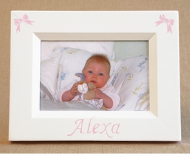 hand painted picture frame - mini bows