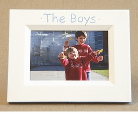 hand painted picture frame - the boys