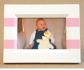 hand painted picture frame - two stripes
