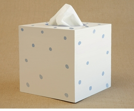 hand painted tissue box - lotty dotty