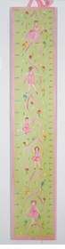 handcrafted growth chart - ballerina
