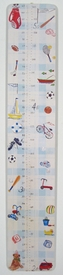 handcrafted growth chart - sports