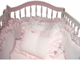 hearts crib bedding by blauen