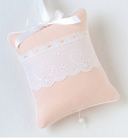 """honeycomb"" 'sweetheart' embroidery crib bedding"