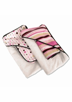 hooded towel & washcloth set - pink
