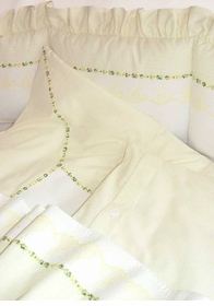 hopper yellow crib bedding by blauen