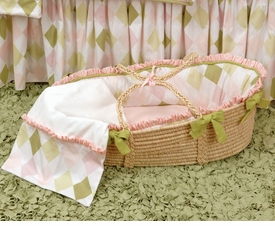ivy league pink moses basket - unavailable