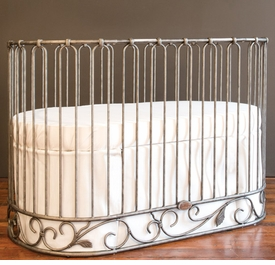 j'adore crib-cradle pewter