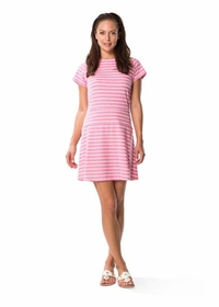 jetting to the jetties fit & flare dress - pink