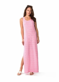 jetting to the jetties pink maxi dress