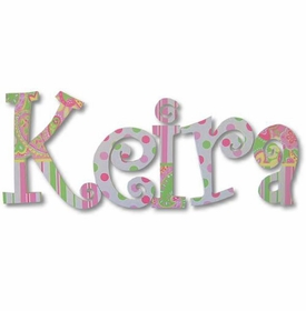"""keira's paisley 8"""" wooden hanging letters"""