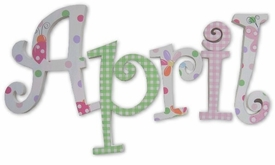 """ladybugs and dots curlz 8"""" wooden hanging letters"""