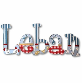 """leban's sports 8"""" wooden hanging letters"""