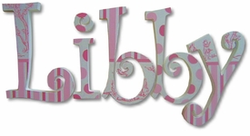 """libby's toile 8"""" wooden hanging letters"""