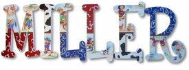 """lil cowpokes 8"""" wooden hanging letters"""
