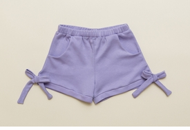 lilac jersey bow shorts