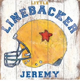 linebacker vintage sign