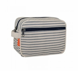 lined travel kit - striped gray
