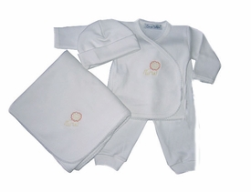 lion layette 3 piece set
