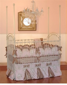 little bunny blue angelique toile d'or crib bedding
