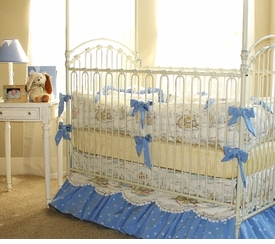 little bunny blue cottontail crib bedding
