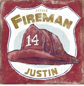 little fireman vintage sign