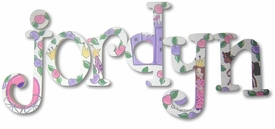"""little princess whimsical 8"""" wooden hanging letters"""