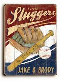 little sluggers vintage sign