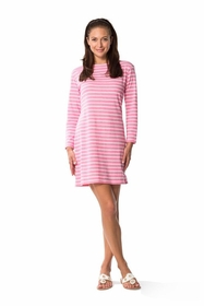 long sleeve jetting to the jetties dress - pink