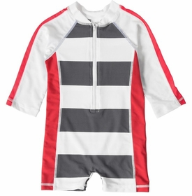 long sleeve one piece sunsuit - red graphite