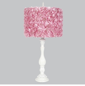 lotus lamp with pink roses shade