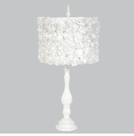 lotus lamp with white roses shade