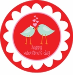 lovebirds holiday plate (style 2p)