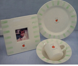 """lovebug"" baby dish set"