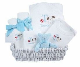 luxury baby gift basket - puppy