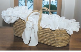 luxury palm moses basket by blauen