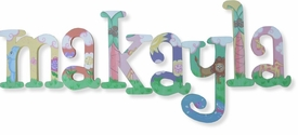 """makayla whimsical  style 8"""" woooden hangin letters"""